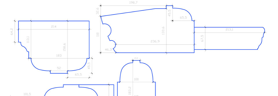 CAD Drawing: Window member sections, Shiplake College