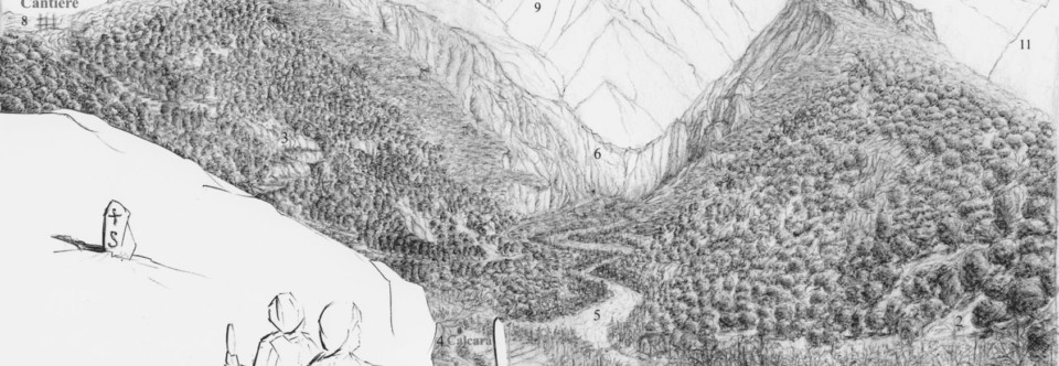 Thesis Free Hand drawings: Landscape mapping