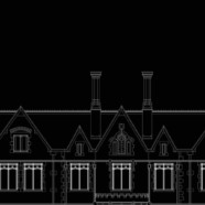 Survey & CAD drawings, Taplow Court West elevation